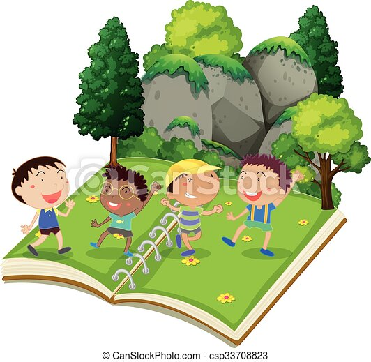 Children playing in the park - csp33708823