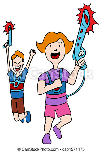 an image of children playing laser tag stock illustrations search rh canstockphoto ca Laser Quest Clip Art Laser Beam Clip Art