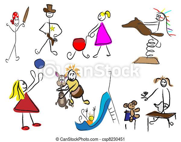 children playing - csp8230451