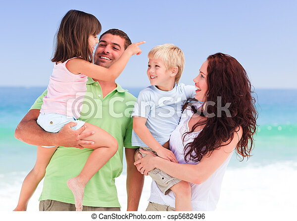 Children playing with their parents - csp5682496