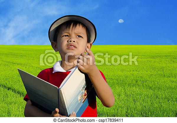 Children reading - csp17839411