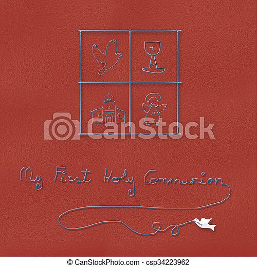 Children Religious Symbols For Communion My First Holy Communion