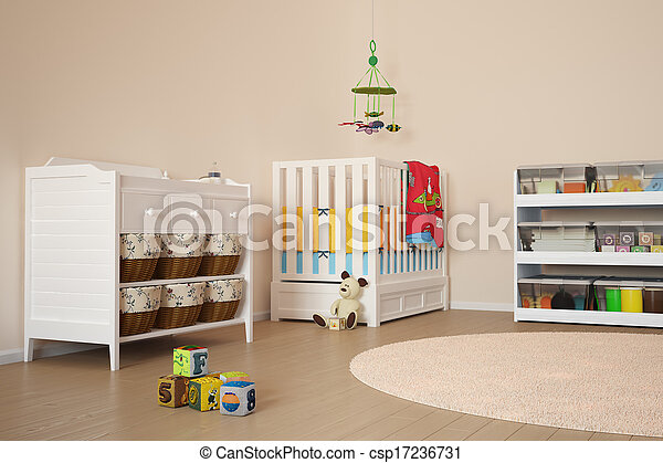 Children room with toys - csp17236731