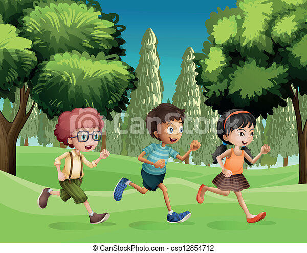 Cartoon Picture Of A Dog And Girl Running