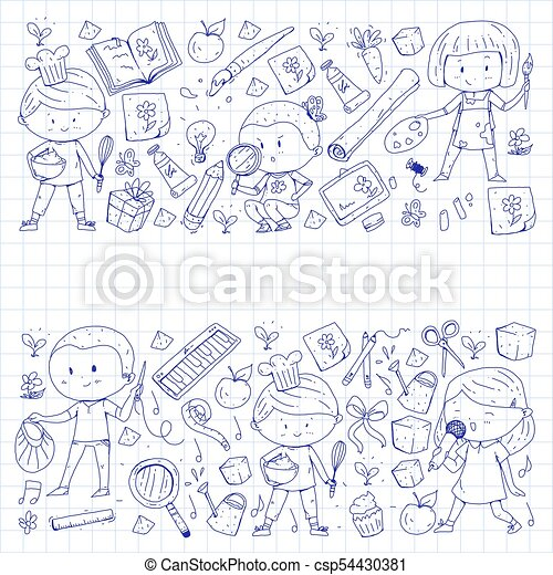 Children  School and kindergarten  Creativity and education  Music   Exploration  Science  Imagination  Play and study  Cooking  Singing   Reading
