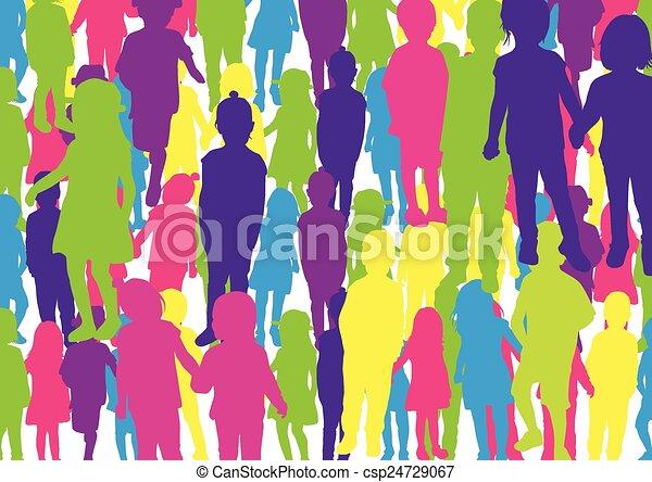 children silhouette - csp24729067