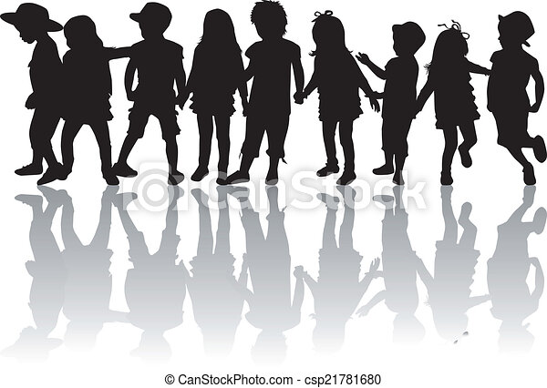 children silhouettes - csp21781680