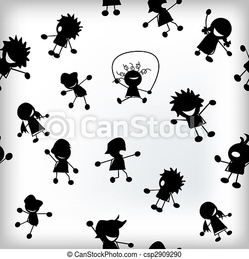 Children silhouettes - csp2909290
