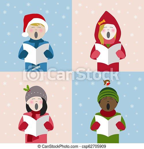 Christmas Singing Images.Children Singing Christmas Carols