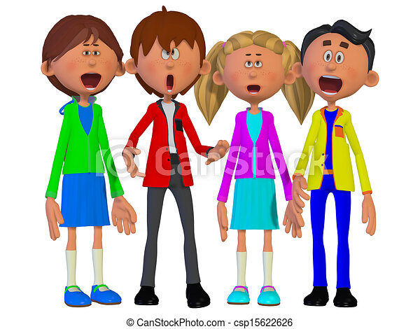 Children singing - csp15622626