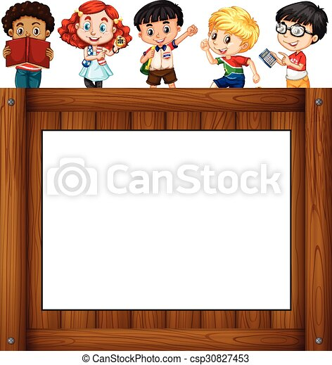Children Standing Around The Frame