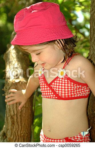 Children-Summertime Cutie - csp0059265