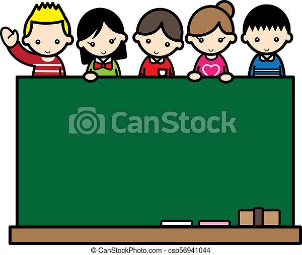 Children with a blackboard - csp56941044