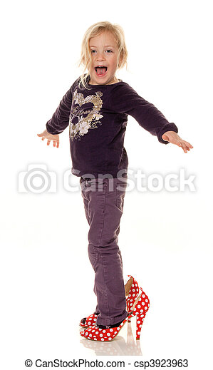 Children With Big Shoes Symbol For Growth And Future Stock Photos