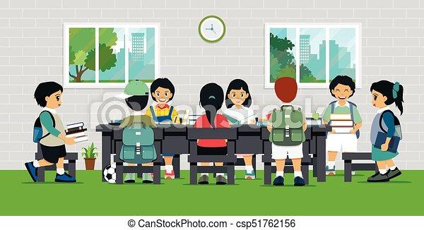 Children with books - csp51762156