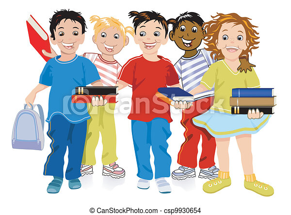 Children with books - csp9930654