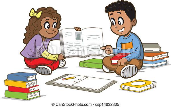 Children With Books - csp14832305