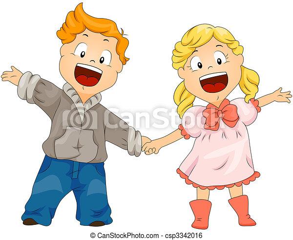 Children with Hands Up - csp3342016
