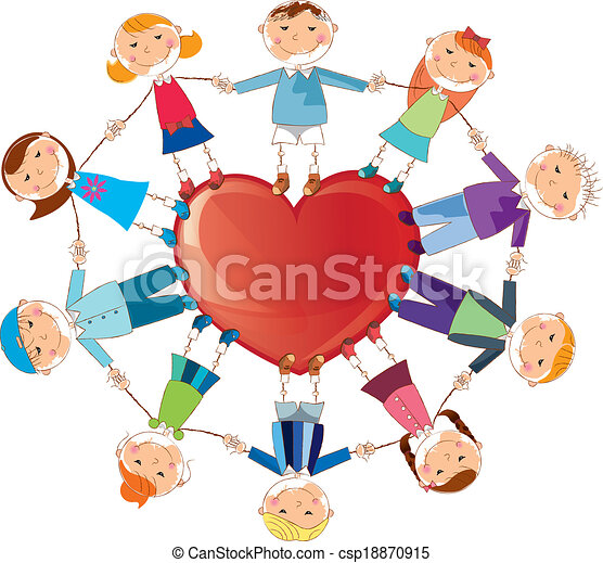 children with hearth is a eps 10 illustrator file without vector rh canstockphoto com illustration clipart illustrated clip art auto
