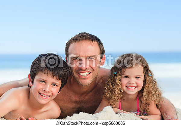 Children with their father - csp5680086