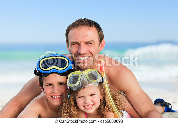 Children with their father - csp5680093