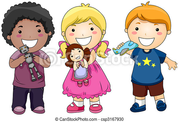 Children with Toys - csp3167930
