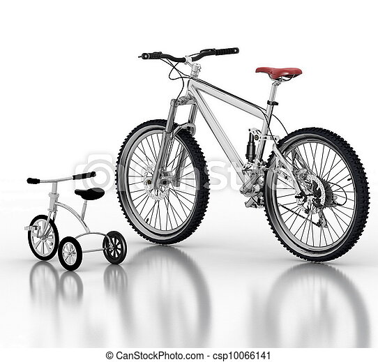 Children's bicycle against a sport - csp10066141
