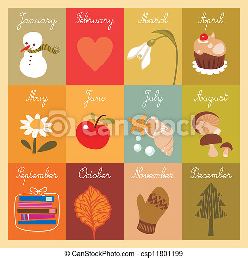 Children S Calendar Children S Calendar With Illustrated Cards