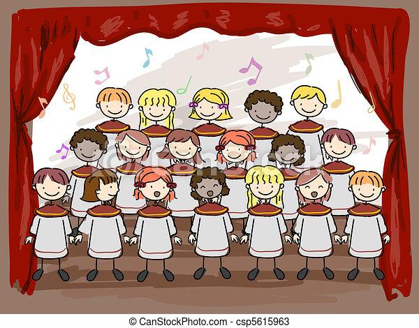 Children's Choir - csp5615963