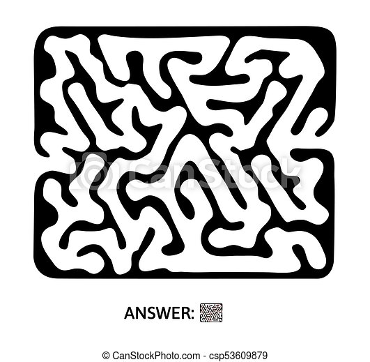 Children S Maze Puzzle Game For Kids Vector Labyrinth Illustration
