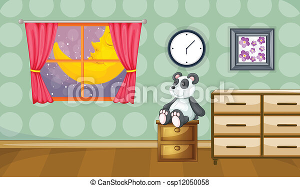 Childrens Room Illustration Of A Childrens Room At Night