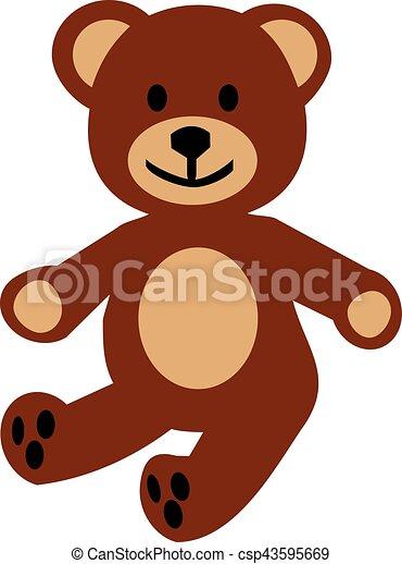 Childrens teddy bear - csp43595669