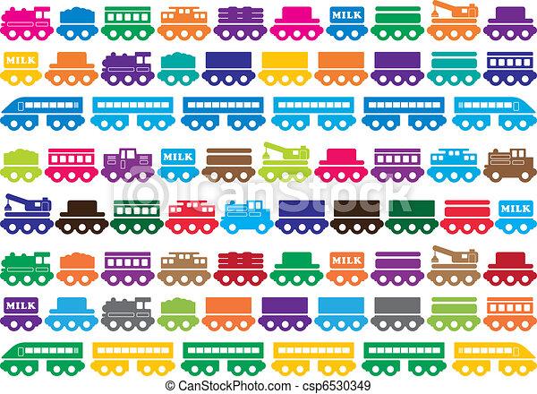 Children's wooden toy train - csp6530349
