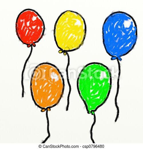 childs balloons - csp0796480