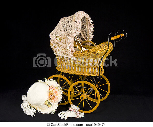 child\'s, buggy, oud, pop - csp1949474