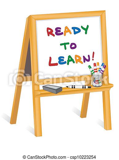 childs, chevalet, prêt, apprendre - csp10223254