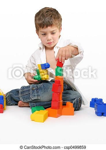 Child's concentration - csp0499859