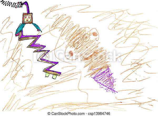 child s drawing alien spacecraft childs drawing alien