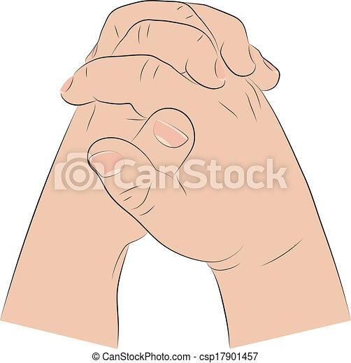 Child's Hands In Prayer - csp17901457
