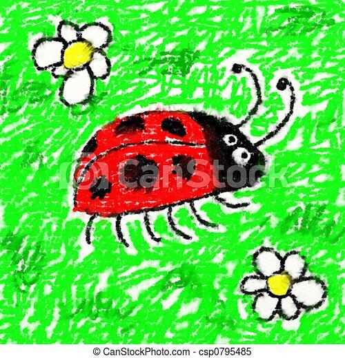 childs ladybug - csp0795485