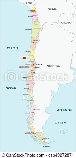 Chile Administrative And Political Map Chile Administrative And