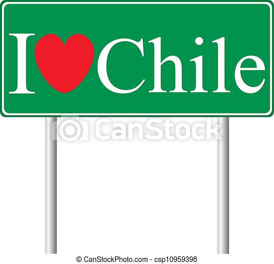 chile, concepto, amor, muestra del camino - csp10959398