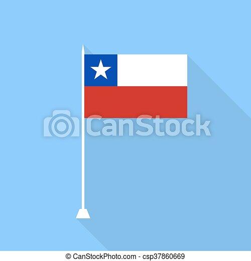 Chile Flag. Vector illustration . - csp37860669