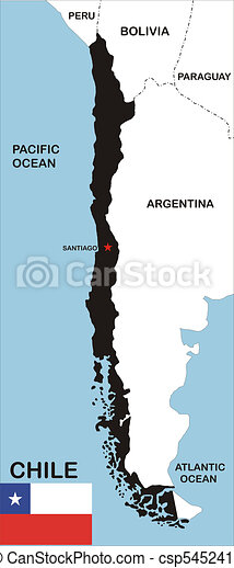 Chile Map Political Map Of Chile Country With Neighbors And