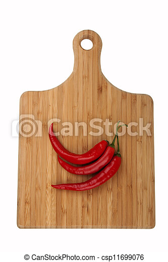 chili on kitchen board - csp11699076