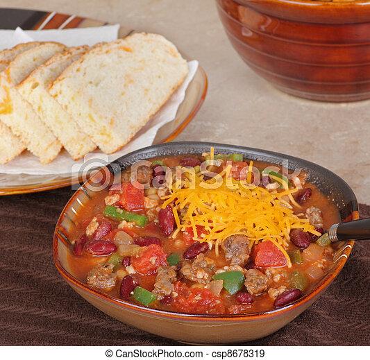 Chili with Cheese - csp8678319