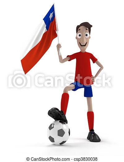 chilien, joueur football - csp3830038