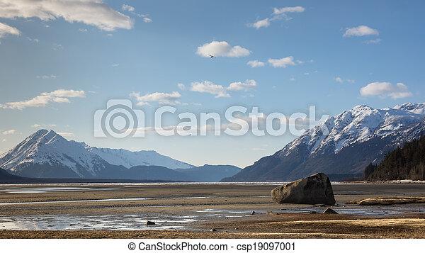 Chilkat Beach at low tide - csp19097001