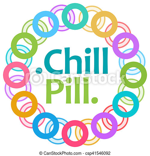 Chill Pill Colorful Rings Circular - csp41546092