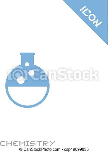chimie, icône - csp49099835